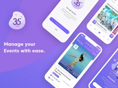 365Live - Event App UI Design