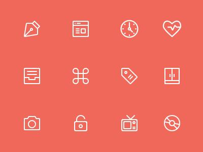 Basic Line Icons ai icons line basic clean flat