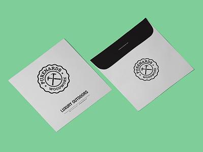 Purenards Woodwork stationery isometric branding perspective photoshop envelope