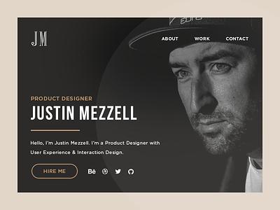 Personal Site Hero Section portfolio