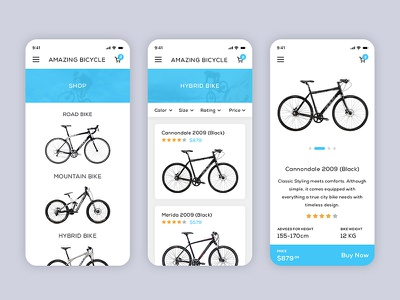 Amazing Bicycle App mobile app app bicycle