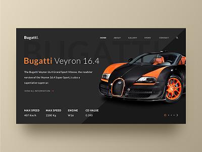 Bugatti Web Page Concept bugatti veyron car bugatti