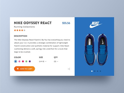 Nike Product Page Concept ux ui web shop clean product page nike