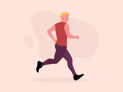 Jogging illustration man jogging