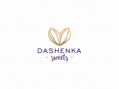 Dashenka gold food logotype logo heart handmade grains premium chocolate cocoa