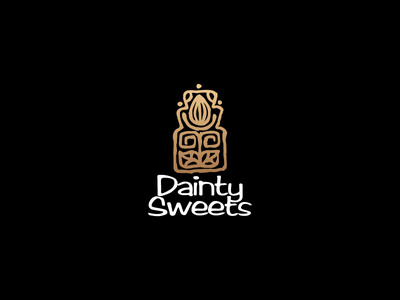 Dainty Sweets illustration design aztecs totem grains chocolate craft mayan cocoa logotype logo