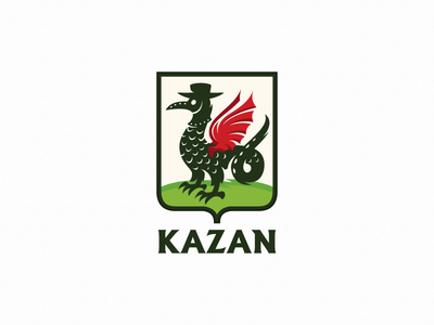 Kazan illustration dragon zilant plague doctor plague kazan stayathome quarantine logotype logo