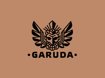 Garuda vector food illustration design god bird wings logotype logo garuda coffeeshop coffee