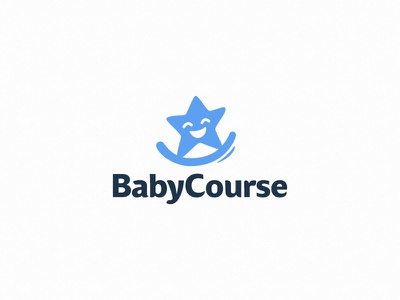 BabyCourse kids smile toy character illustration children star baby logotype logo