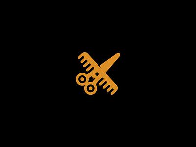 plane branding vector logotype logo speed minimalism beauty barbershop hairdresser haircut rocket comb scissor plane