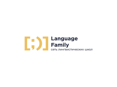 Language Family typography vector design logotype logo linguistics result satisfied teacher school language transcription smile