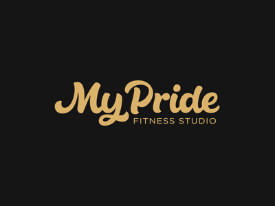 My Pride feminine sports fitness vector calligraphy lettering logotype logo