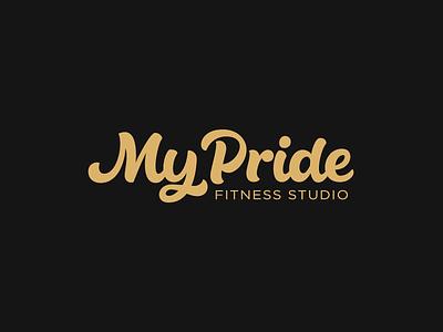 My Pride feminine sports fitness vector calligraphy lettering logotype logo