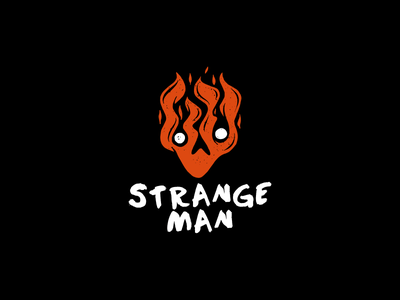 Strange man vector logotype logo mysterious strange party cool band music character man rock fire