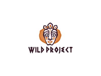 Wild project logotype logo craft ethnic wild mask