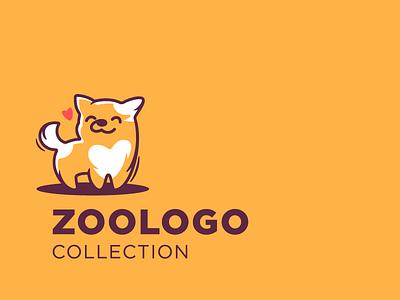 New logo collection vector animals zoo character illustration logotype logo