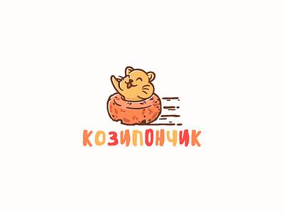 Koziponchik logotype logo character dried fruit nuts donut kozinaki hamster
