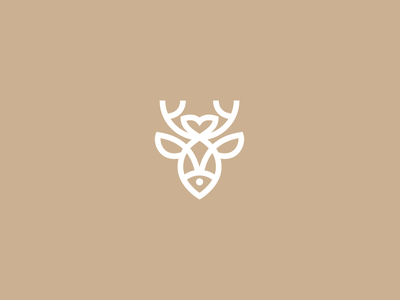 Fish and deer logotype logo eco nature antlers hike fishing forest river deer