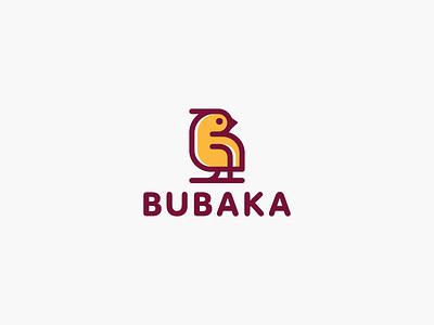 Bubaka logotype logo furniture baby kids eco wood letter monogram b bird