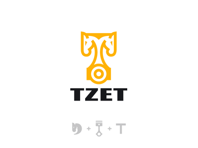 Tzet logotype logo speed motor parts auto car monogram horse