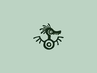 Ethnic Dragon Logo animals nature character logotype logo dragon ethnic