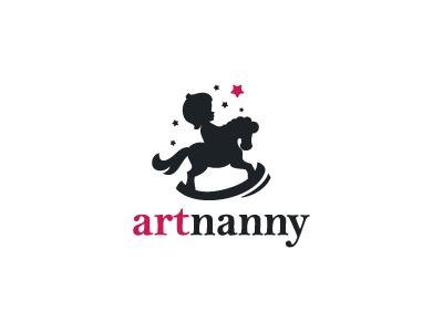Artnanny babysitting child nanny toy baby kids design branding logo identity brand logotype logo