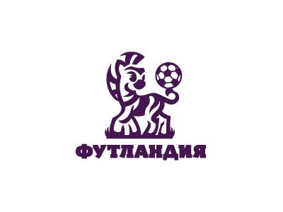 Futlandiya identity branding logo brand football club children kids logotype logo ball zebra football