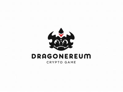 Crypto game character ethereum dragon game logotype logo