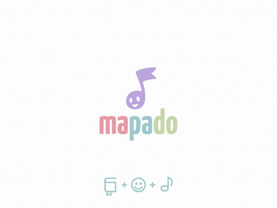 mapado minimalism audio kids child bookmark book note logotype logo
