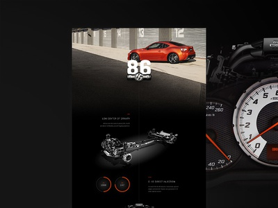 Toyota 86 website web design ux ui web