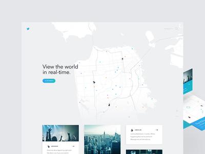 Twitter Live Concept geo map animation concept web design web ui ux twitter
