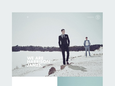 Harrison James Website design ux ui website site mens fashion tailor suit mensware