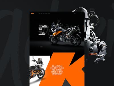 KTM Teaser design ux ui web design web website