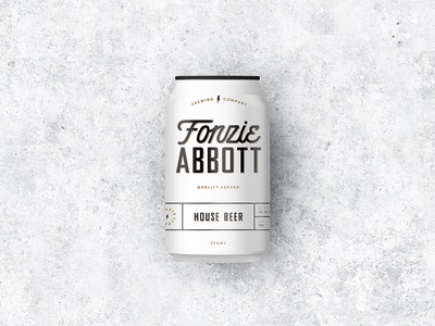 Fonzie Abbott Beer Can Design