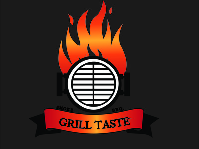 Food logo bbq logo smoke logo