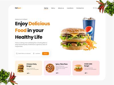 Food Ordering Website graphic design ui