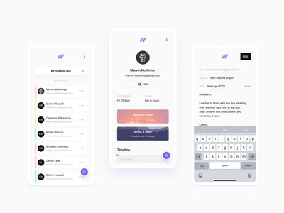 Nat.app personal crm mobile uxdesign ux uidesign ui relationship stayintouch personal nat.app minimal design crm contacts branding