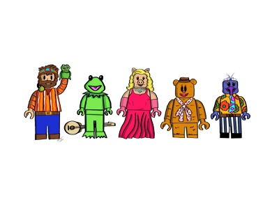 Minifigure Concept of Jim Henson and the Muppets minifigure lego muppets