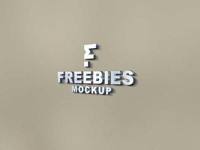 Plain FreeBies 3D Logo Mockup 2021 graphic mockup new free psd design premium free mockup psd mockup