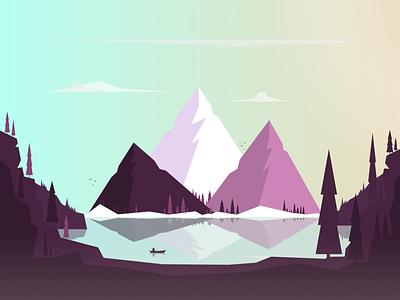 Freedom color flat illustration vector art vector illustration flat 2d minimal nature landscape mountains clean illustration