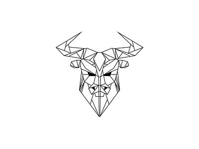 Bull line logo 2d illustration illustration flat color 2d minimal clean
