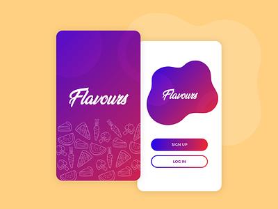 Food app - Launch screens ux ui