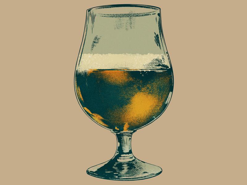 Tulip Glass digital painting ipad pro procreate drawing illustration bier illlustration glassware brewery brewing beer tulip glass tulip