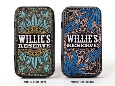 Willie's Reserve Joint Tin V2 filigree ornamental ornament willie nelson pot weed marijuana cannabis preroll joint packaging tin