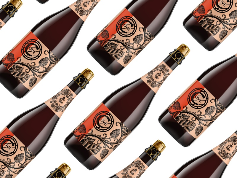 Cove Reserve Bottle cage 750 750ml procreate 2d cover alcohol hops vine ale branding packaging bottle reserve cork brewery brewing beer cove