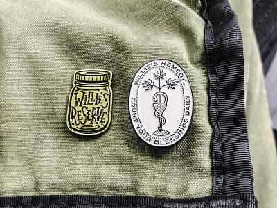Enamel Pins willie nelson weed marijuana cbd procreate cannabis branding buttons pins enamel pin