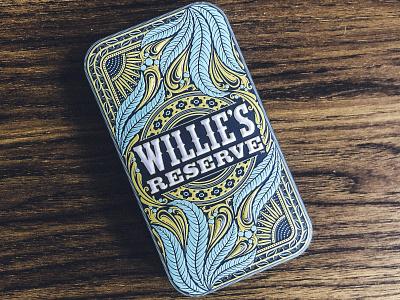 Alternate Colorway smoking spliff pre roll preroll willie nelson marijuana weed cannabis joint packaging tin