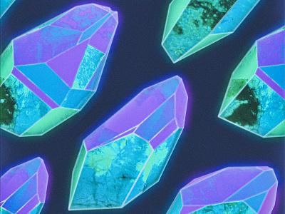Single Artwork - Blue Variant gemstone quartz gem crystal illustration music cover album single