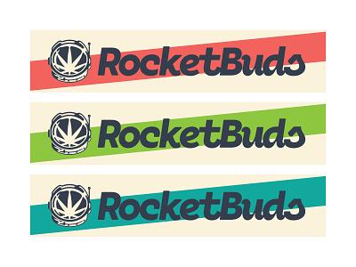 RocketBuds 2d nasa brand branding logo logotype shuttle space bud rocket astronaut helmet marijuana cannabis pot weed
