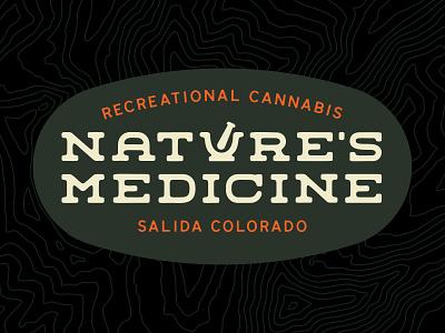 Nature's Medicine 2d dispensary logotype medicine nature colorado marijuana pot weed cannabis branding brand logo pestle mortar